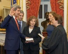 Date: 02/01/2013 Description: Supreme Court Justice Elena Kagan swears in Secretary of State John Kerry on February 1, 2013 in the Foreign Relations Committee Room in the Capitol. They were joined by his wife Teresa, daughter Vanessa, brother Cameron, and his Senate staff. - State Dept Image
