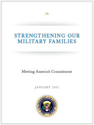 image of Strengthening Our Military Families report cover