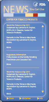 Tobacco Regulations Widget. Flash Player 9 or above is required.