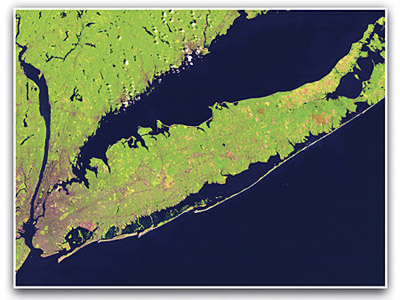 Satellite view of Long Island