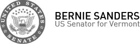 U.S. Senator Bernie Sanders, United States Senator for Vermont