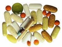 Assortment of dietary supplement pills