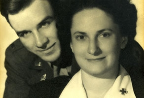 Soldier, Red Crosser Meet and Marry During WWII