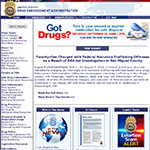 Thumbnail image of Drug Enforcement Administration in the U.S. Department of Justice website