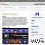 Thumbnail image of The Grammy Foundation website