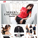 Thumbnail image of H and M web site