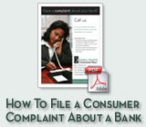 How To File a Consumer Complaint About a Bank PDF Brochure