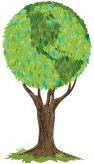 Image of a green tree which represent the Earth