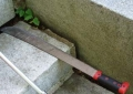 A machete found near a playground
