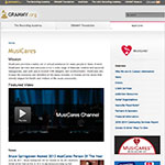 Thumbnail image of MUSICARES website