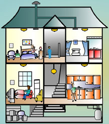 """Tox Town inside view of home - 3""""x3.5"""" @300dpi - 243 KB"""