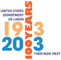 United States Department of Labor: 1913-2013 - 100 Years. Then, Now, Next.