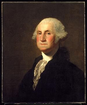 Portrait of George Washington by Gilbert Stuart, ca. 1798