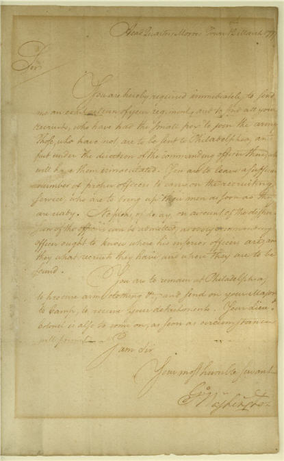 Letter from George Washington to Lieutenant Colonel Grier