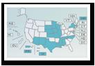 Una imagen de un mapa de los Estados Unidos.