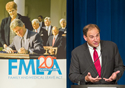Acting Secretary Harris speaks at the 20th Anniversary of the Family Medical Leave Act (FMLA). Click to view larger image.