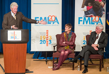 President Clinton acknowledges the leadership role played by Rep. DeLauro and former Senator Dodd in the passage and expansion of FMLA. View the slideshow for more images and captions.