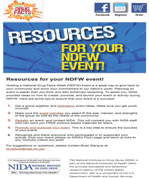 NDFW eBlasts 2013 Resources For Your NDFW Event