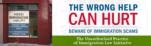 Storefront advertising immigration help