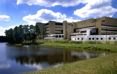 View of NIEHS Campus from across the lake