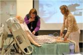 Students taking a telemedicine course in Maine