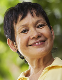 Smiling mature woman.