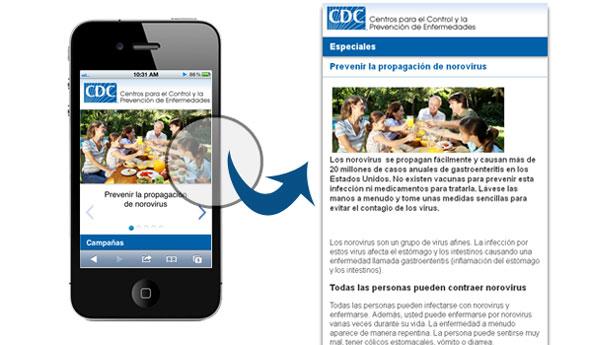 Especiales CDC en Español version móvil
