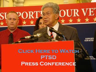 Senator Akaka leads a Press Conference on PTSD