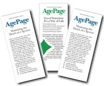 Age Page brochures