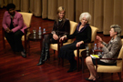 Left to Right Gwen Ifill, Katharine Weymouth, Diane Rehm, Cokie Roberts
