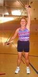 Joan Exercising.
