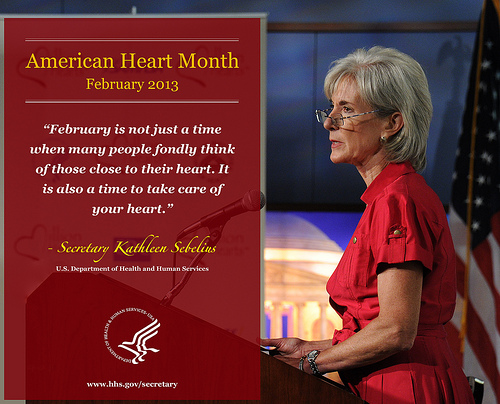 HHS Secretary Heart Month Infographic. Click to see a full size image.