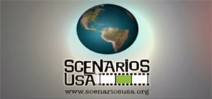 Scenarios USA logo shows an image of a globe.