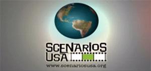Scenarios USA logo shows an image of a globe.