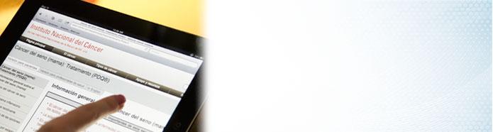 Imagen de una página de PDQ en un dispositivo móvil