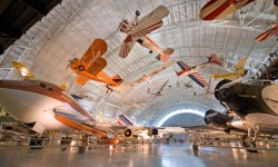 The National Air and Space Museum holds the world's largest collection of aircraft and spacecraft. To display so many treasures, the Steven F. Udvar-Hazy Center opened in 2003 in Chantilly, VA.
