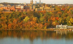 Georgetown University from across the Potomac River