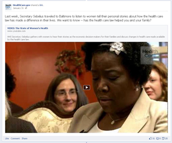 An example of a featured video post on the new Facebook Timeline for Pages design.