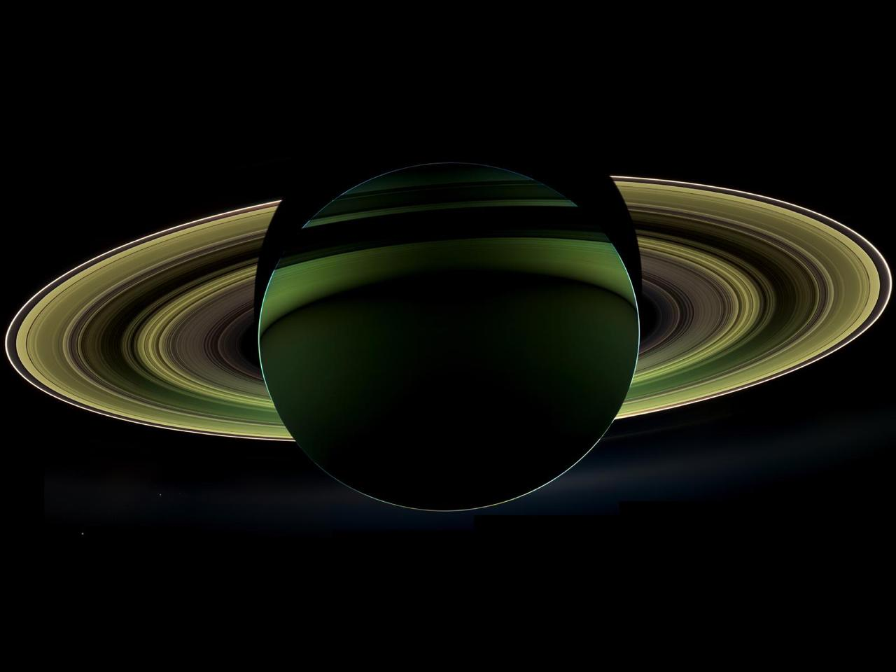 Image description: NASA's Cassini spacecraft delivered this view of Saturn while the spacecraft was in the planet's shadow. Learn more about this view of Saturn. Image from NASA/JPL-Caltech/Space Science Institute