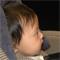 infant undergoing eye-tracking study
