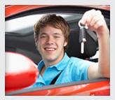 Teen holding car key