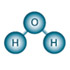 Illustration of hydrogen and oxygen atoms