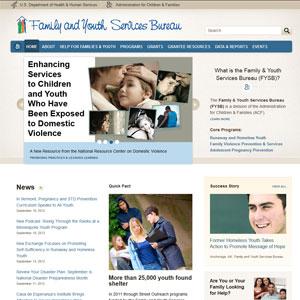 Screen shot of the new FYSB website.