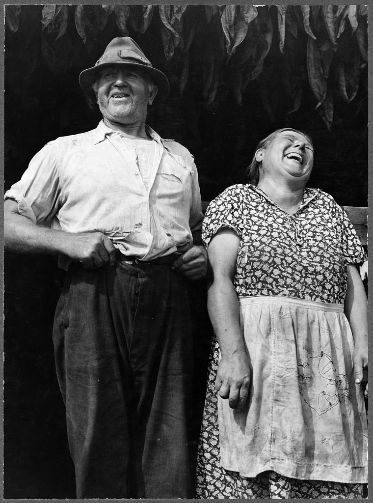 Image description: Mr. and Mrs. Andrew Lyman, Polish tobacco farmers near Windsor Locks, Connecticut. This photograph was taken in September 1940. Photo from the Farm Security Administration - Office of War Information Photograph Collection, Library of Congress.