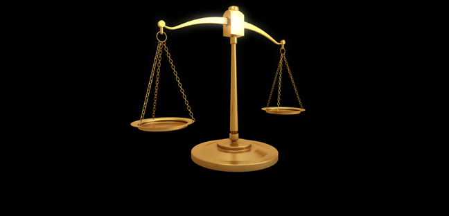 image of balanced scales