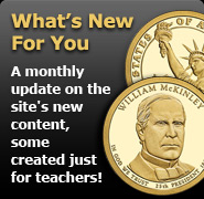 What's New For You? A monthly update on the site's new content, some created just for teachers!