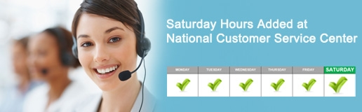 National Customer Service Center Saturday Hours