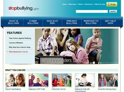 Screen shot of Stop Bullying do Gov