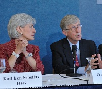 Kathleen Sebelius and Francis Collins