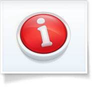 red circular info button